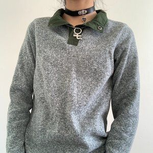 Lands End Thermal with Contrast Collar